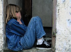 Blogs | Featured Image Child Abused Crying In Doorway