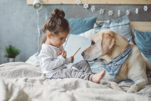 Toddler Dog Friends Animal Bond